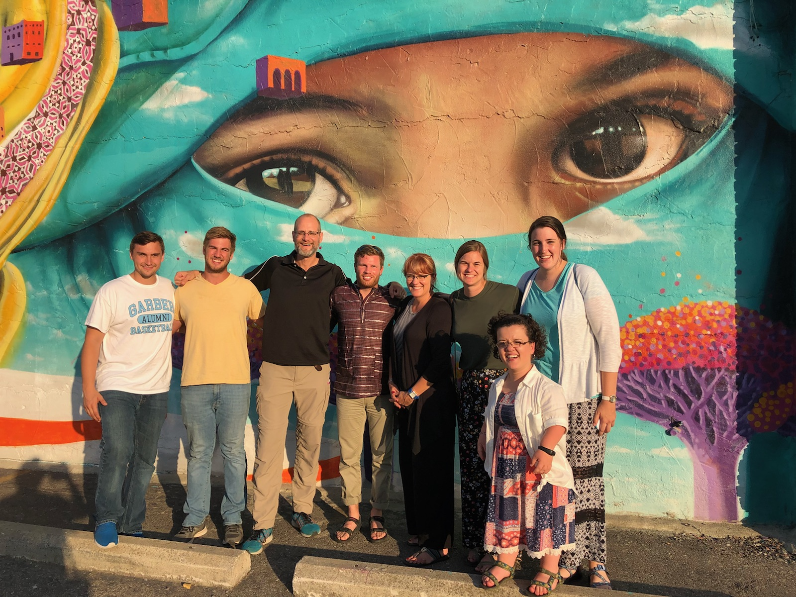 Detroit Missions Team at the wall Mural